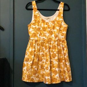 Forever 21 yellow floral dress
